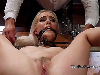 3some, blonde, pain, slave