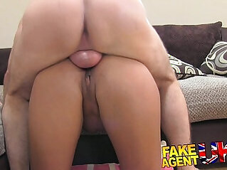 casting, couch, cum, ebony, interview, MILF, office, sucking