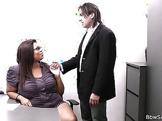 married - Married boss cheating with fat ebony secretary
