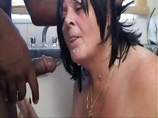 asian cock, black, grandma, granny, old, old and young, slut, sucking