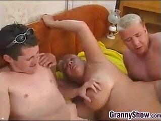 3some, chubby, granny, hubby