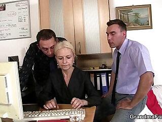 asian cock, blonde, grandma, old
