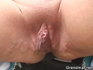 blonde, DP, grandma, granny, penetration