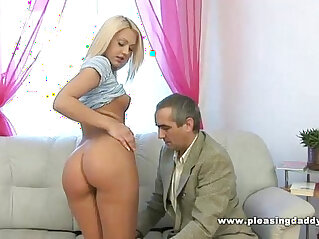blonde, old, slut, sucking, young, young and old