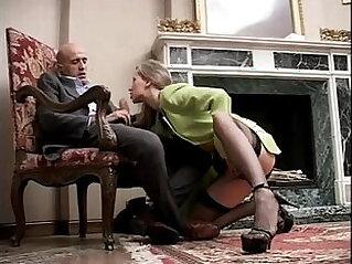 جورب - Classy and sexy cute girl in high heels and stockings sucking a cock