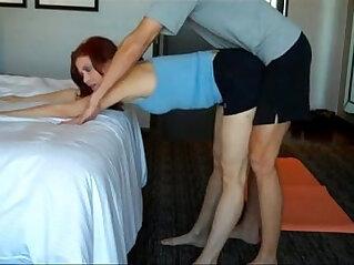 flexible, lesbian, mom, mom and son