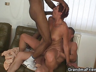 3some, bitch, interracial, mother, old