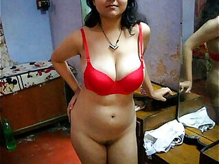 lingerie - Bengali Indian Sexy Savita In Red Lingerie