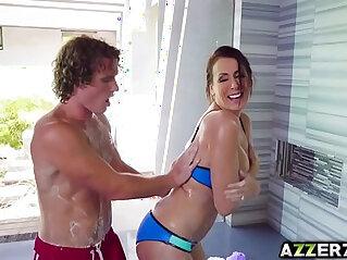 horny, mom, shower
