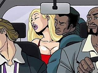 asian cock, big cock, cartoons, interracial
