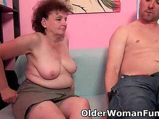 asian cock, chubby, grandma, granny, hubby, pussy