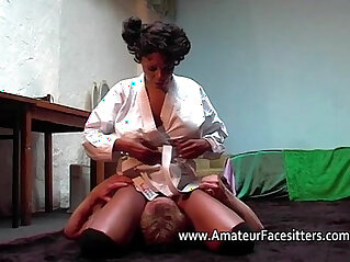 black, boobs, femdom, lady, mom and son, mother, white