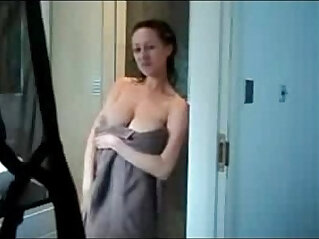 breast, cheating, natural, rubbing, shower, wife