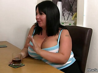 behind, brunette, cheating, plumper, wife