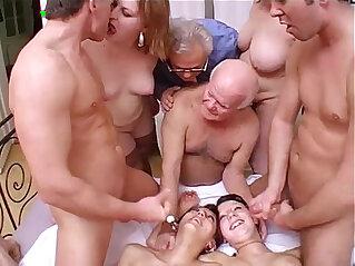 amateur, dirty, family orgy, grandpa, orgy